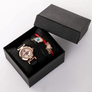 """Подарочный набор 2 в 1 """"Беттина"""": наручные часы (микс) и браслет   4483229"""