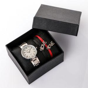 """Подарочный набор 2 в 1 """"Мараньян"""":  наручные часы и браслет   4483224"""