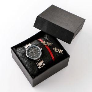 """Подарочный набор 2 в 1 """"Марко"""":  наручные часы и браслет   4483225"""