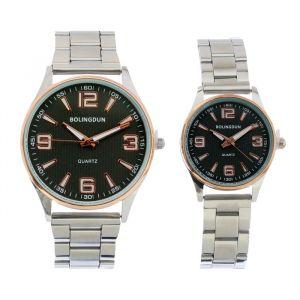 """Часы наручные, """"BOLINGDUN"""", парный набор для нее и для него, хром   4407070"""
