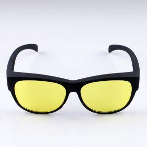 Очки солнцезащитные водительские, линза жёлтая, дужки чёрные прямые 14х4х4,5 см 4949375