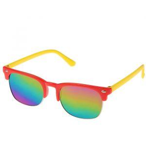 """Очки солнцезащитные детские """"Round"""", оправа и дужки разного цвета, МИКС, 12.5 ? 4.5 см"""