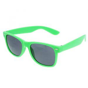 """Очки солнцезащитные детские """"Wayfarer"""", оправа зелёная, овалы, линзы чёрные, 14 ? 4.5 ? 3 см"""