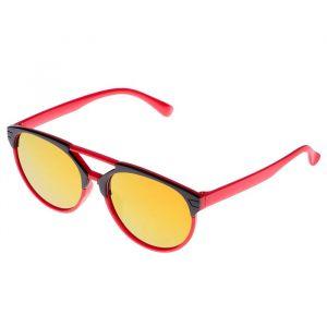 Очки солнцезащитные детские, оправа двухцветная, стёкла зеркальные, МИКС, 13 ? 12 ? 4.5 см