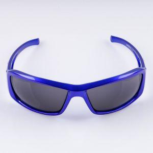 """Очки солнцезащитные спортивные """"Луи"""", синие,   uv 400, 11.5х13х4.5 см, линза 4.5х6 см   4738154"""