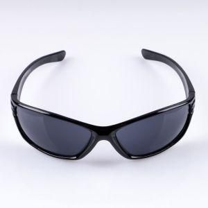 Очки спортивные, линзы серые, оправа чёрная выпуклая 3241533