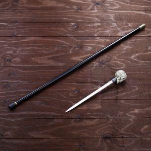 Сувенирное изделие Трость с кинжалом, клинок 30см, набалдашник Череп   4738946