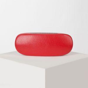 Футляр для очков, отдел на клапане, цвет красный