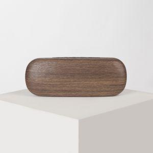 Футляр для очков, отдел на клапане, цвет коричневый