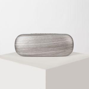 Футляр для очков, отдел на клапане, цвет серый