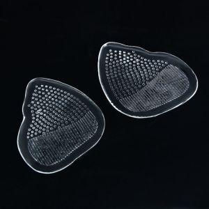 Полустельки для обуви, силиконовые, с протектором, пара, цвет прозрачный