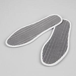 Стельки для обуви, окантовка, прошитые, ароматизированные, 36 р-р, пара, цвет белый/чёрный