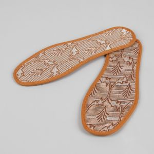 Стельки для обуви «Узор», окантовка, 36 р-р, пара, цвет коричневый