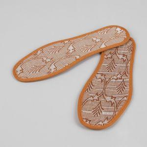 Стельки для обуви «Узор», окантовка, 37 р-р, пара, цвет коричневый