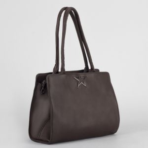 Сумка женская, отдел с перегородкой на молнии, наружный карман, цвет коричневый