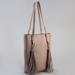 Сумка женская на молнии, 1 отдел, наружный карман, цвет бежевый