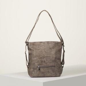 Сумка-рюкзак, отдел с перегородкой на молнии, 2 наружных кармана, цвет бордовый