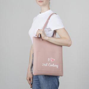 Сумка молодёжная, отдел на молнии, наружный карман, цвет розовый