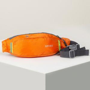 Сумка поясная, отдел на молнии, наружный карман, дышащая спинка, цвет оранжевый