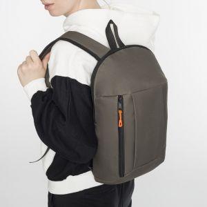 Рюкзак молодёжный, отдел на молнии, наружный карман, цвет хаки