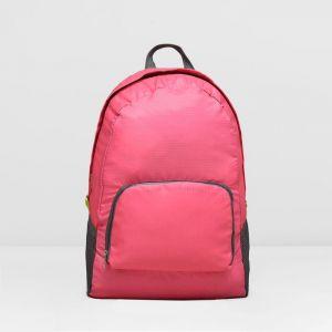 Рюкзак складной, отдел на молнии, наружный карман, 2 боковых кармана, цвет малиновый