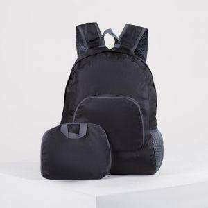 Рюкзак складной, отдел на молнии, наружный карман, 2 боковых кармана, цвет чёрный