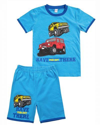 """Комплект для мальчика 4-8 лет BONITO """"Cars"""" голубой"""