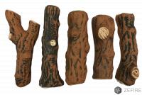 Керамические дрова темные - 5 шт