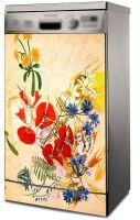 Наклейка на на посудомоечную машину - Полевые цветы
