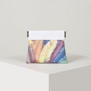 Кошелёк женский, отдел на металлической стяжке, цвет разноцветный