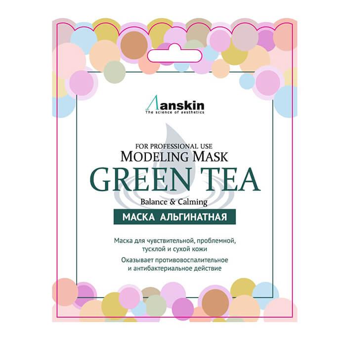 Успокаивающая альгинатная маска с экстрактом зелёного чая Anskin Green Tea Modeling Mask