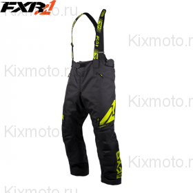 Полукомбинезон FXR Сlutch FX - Black/Hi-Vis мод. 2019