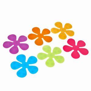 Набор мини-ковриков для ванны «Цветочек», 10,5?10,5 см, 6 шт, цвет МИКС