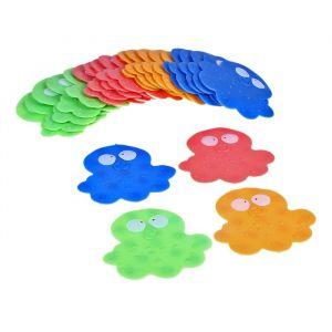 Набор мини-ковриков для ванны «Медуза», 11?12 см, 6 шт, цвет МИКС