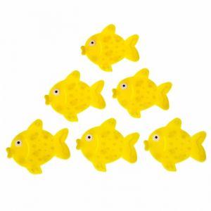 Набор мини-ковриков для ванны «Рыбка», 11?12 см, 6 шт, цвет МИКС