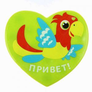 УЦЕНКА Мини-коврик для ванны на присосках «Попугайчик»