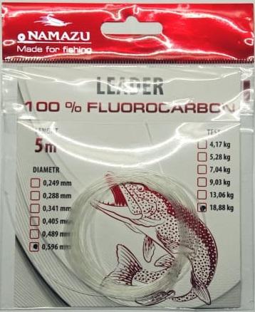 Поводковый материал флюорокарбоновый NAMAZU, размотка 5 м
