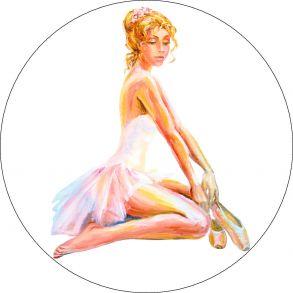 Вышивка крестиком «Сидящая балерина» 21x21.