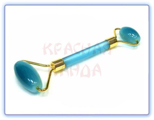 Роликовый массажер для лица Голубой кварц