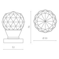 Комплект кноб Glass Design Geo50. схема