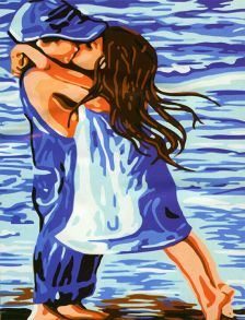 Картина по номерам «Поцелуй» 40x50 см
