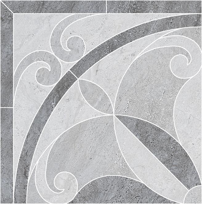 ID98 | Декор Монтаньоне наборный 1/4 розона