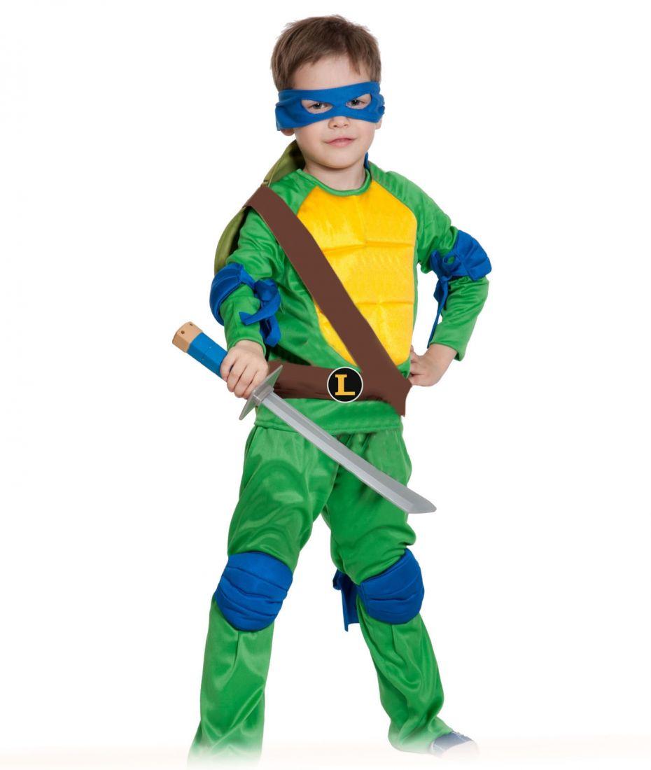 Детский костюм сине-зеленой Черепашки Каратиста