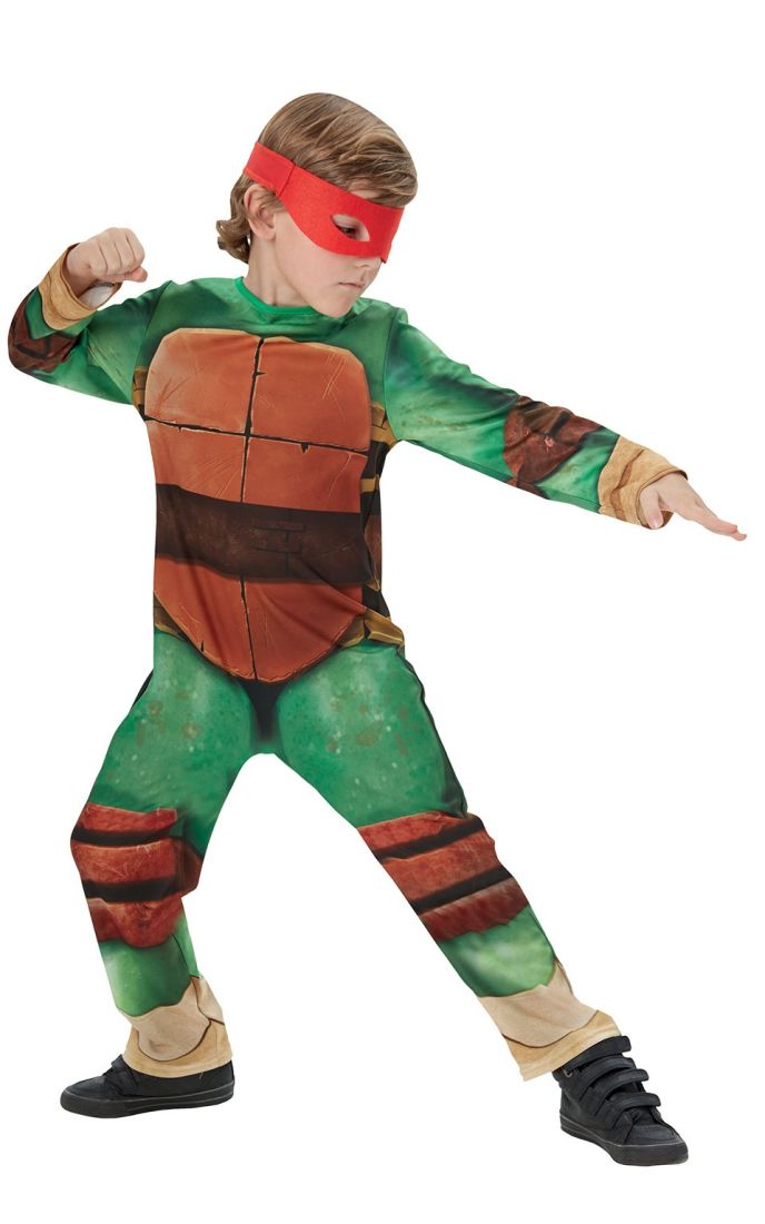 Костюм красно-зеленой Черепашки Каратиста для детей