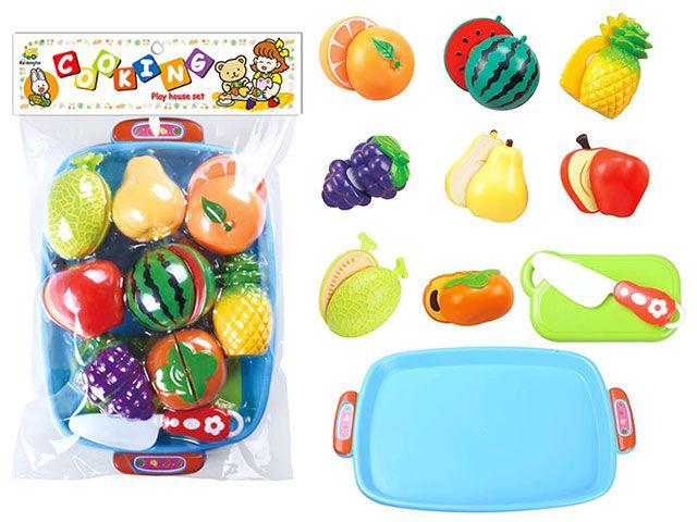 Н228С39 Набор игрушечных продуктов 11 предметов Фрукты