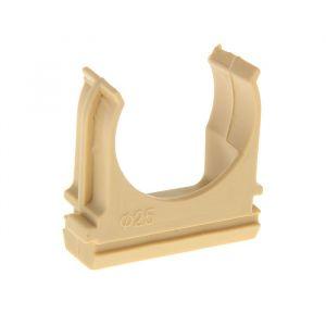Крепеж-клипса для труб, d=25 мм, в наборе 10 шт, цвет светлого дерева 1234340