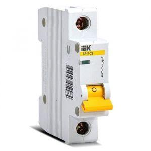 Выключатель автоматический IEK MVA20-1-025-C, 1п, C 25 А, ВА 47-29, 4.5кА 2590349