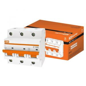 Выключатель автоматический TDM ВА47-100, 3п, 100 А, 10 кА 2964254