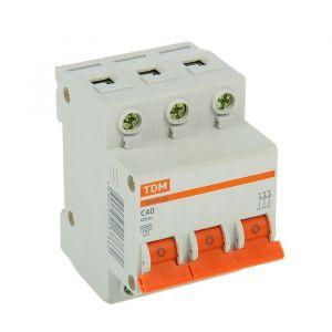 Выключатель автоматический TDM ВА47-63, 3п, 40 А, 4.5 кА 2114238