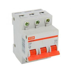 Выключатель автоматический TDM ВА47-63, 3п, 63 А, 4.5 кА 2114240